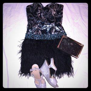 Dresses & Skirts - NWT SHORT BLACK PROM DRESS STRAPLESS SAVE $300